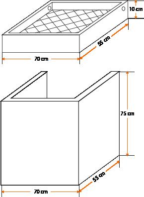 Esquema - Lavandería Prefabricada modelo compacto