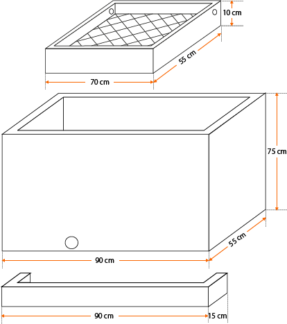 Esquema - Lavandería Prefabricada modelo estándar
