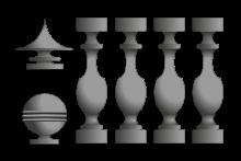 Prefabricados de Hormigón - Imagen de moriscos con y sin hierro